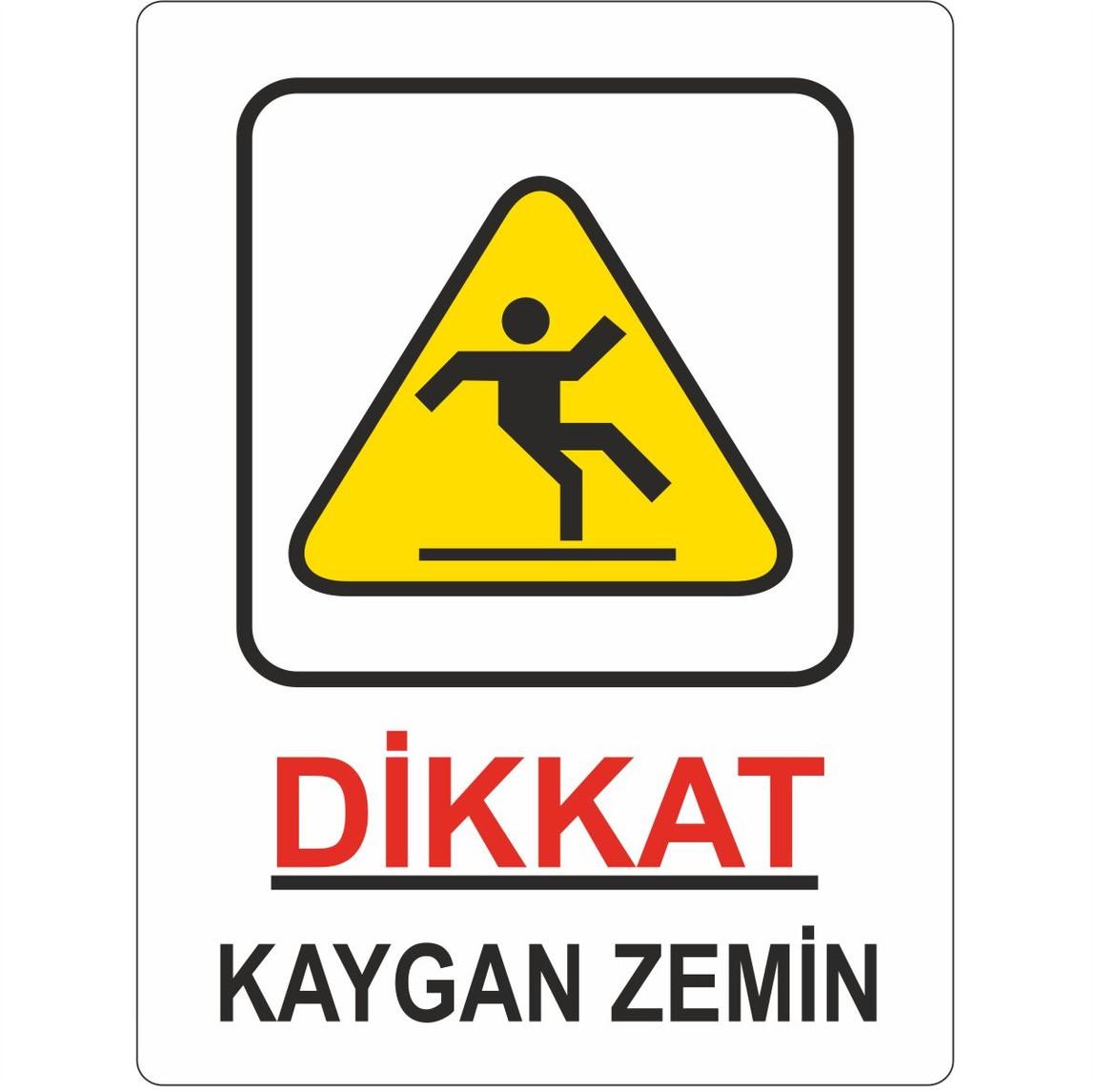 25x35 cm Pvc Dikkat Kaygan Zemin
