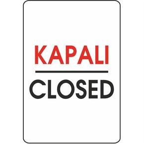 Uyarı Levhası Pvc Kapalı-Closed