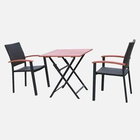 Sunfun Alu Bistro Masa ve Sandalye Seti