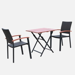 Sunfun Alu Bistro Rattan Masa ve Sandalye Seti