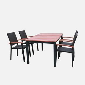 Sunfun Alu Rattan Masa ve Sandalye Seti