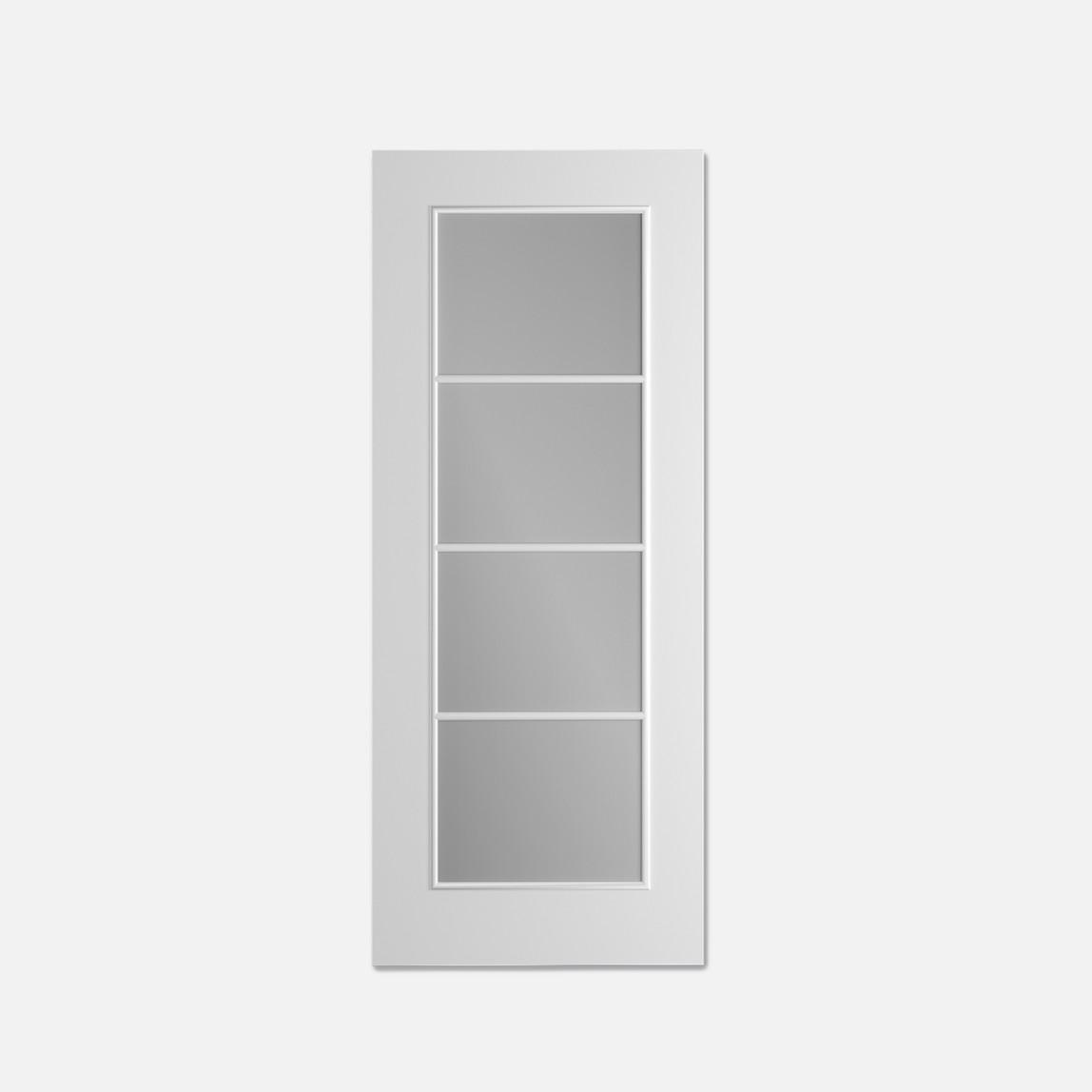 C02 Camlı Beyaz Doorest Melamin Kanat 80X198Cm