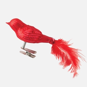 Yıbaşı Ağaç Süsü Kuş Kırmızı