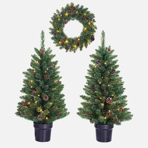 Işıklı Yılbaşı Ağacı Seti