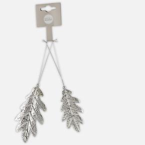 2'li Yaprak Ağaç Süsü 8cm