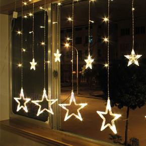 12'li Yıldız Led Zincir Sarı Işık