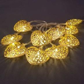 10'lu Metal Sarı Kalp