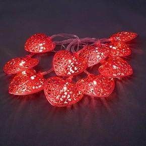 10'lu Metal Kırmızı Kalp