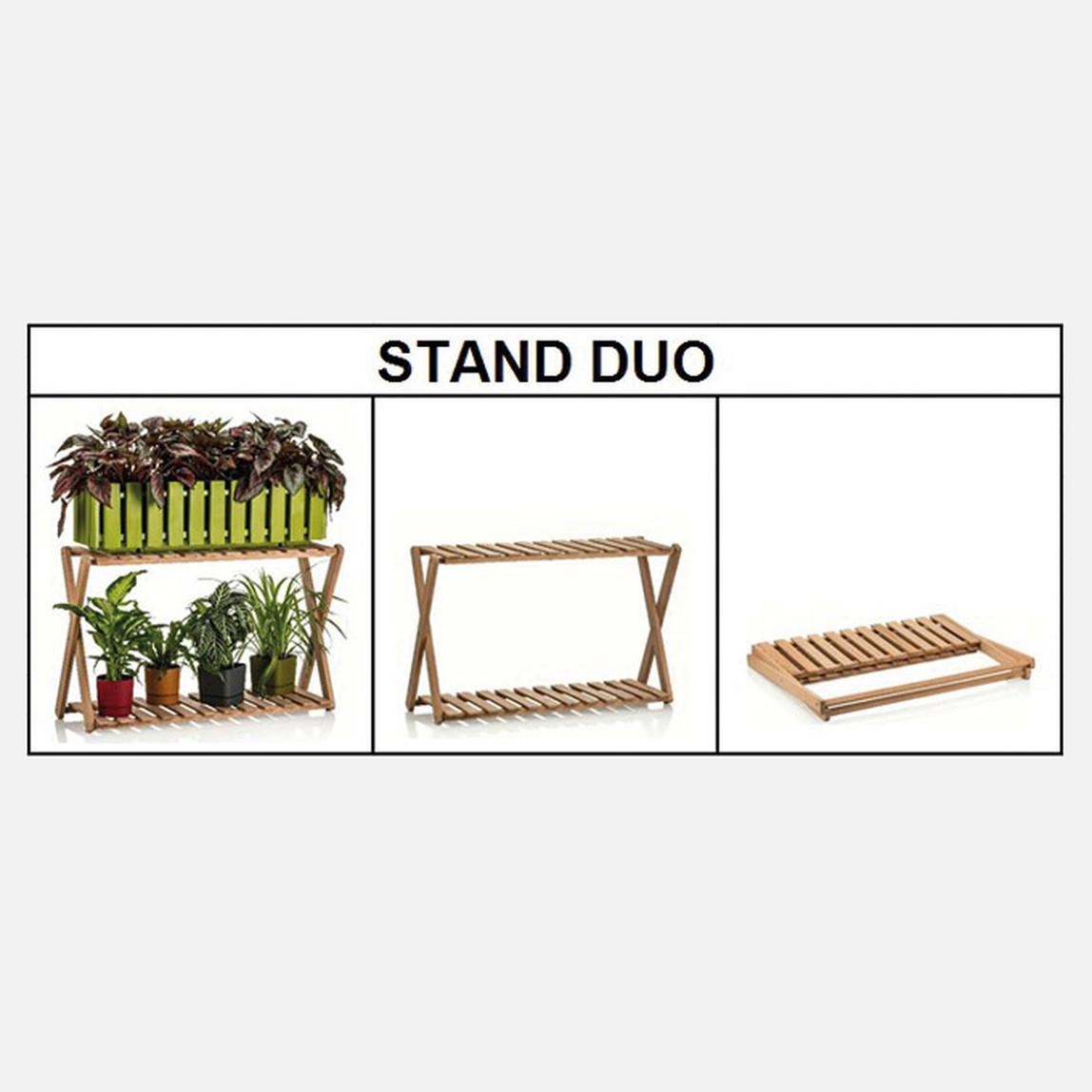 Duo Ahşap Saksı Standı
