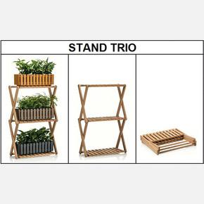 Trio Ahşap Saksı Standı