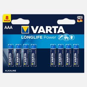 Longlife Power AAA 8 Li Alkaline Pil