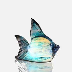 Dekoratif Ledli Lamba Balık Mavi