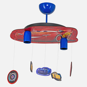 Cars 7601 2X60 W Led Dekoratif Lisanslı Figürlü Tavan Lambası