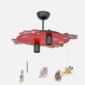 Minnie & Mickey 7603 Led Dekoratif Lisanslı Figürlü Tavan Lambası