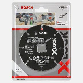 X-LOCK Carbide Multi Wheel Kesici Disk 115 mm
