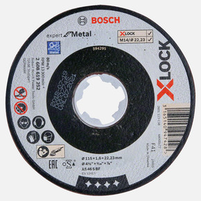 X-LOCK Expertfor Metal Kesici Disk 115x1.6 mm Düz