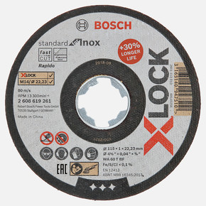 X-LOCK 115x1 mm Standard for Inox Rapido Kesici Disk