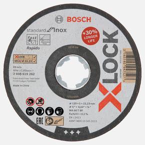 X-LOCK Standard for Inox 125x1 mm Düz Kesici Disk