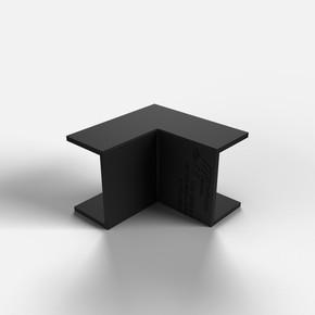 12X12 İç-Dış Köşe Siyah