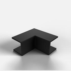 16X16 İç-Dış Köşe Siyah