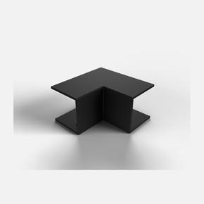 25X25 İç-Dış Köşe Siyah