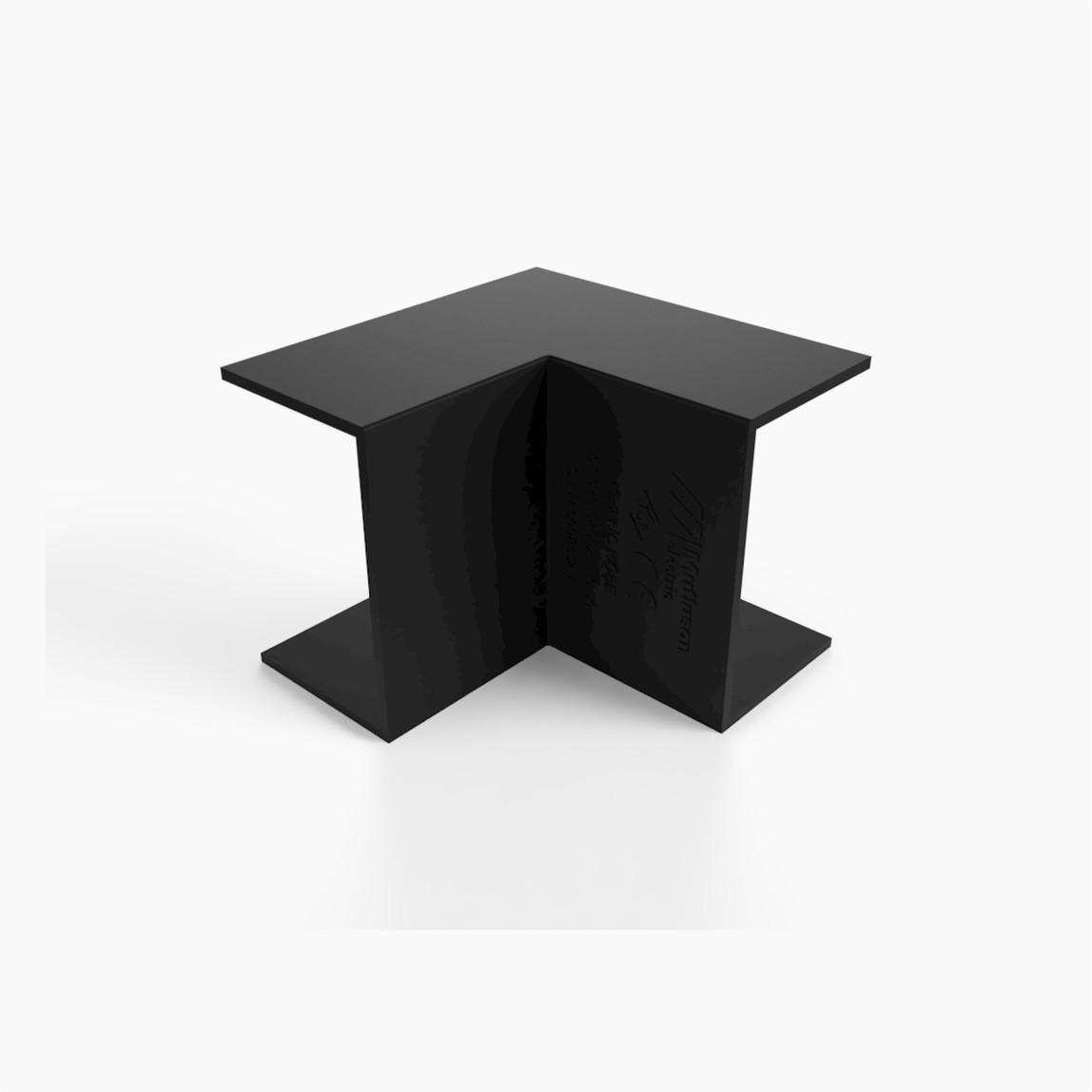 40X25 İç-Dış Köşe Siyah