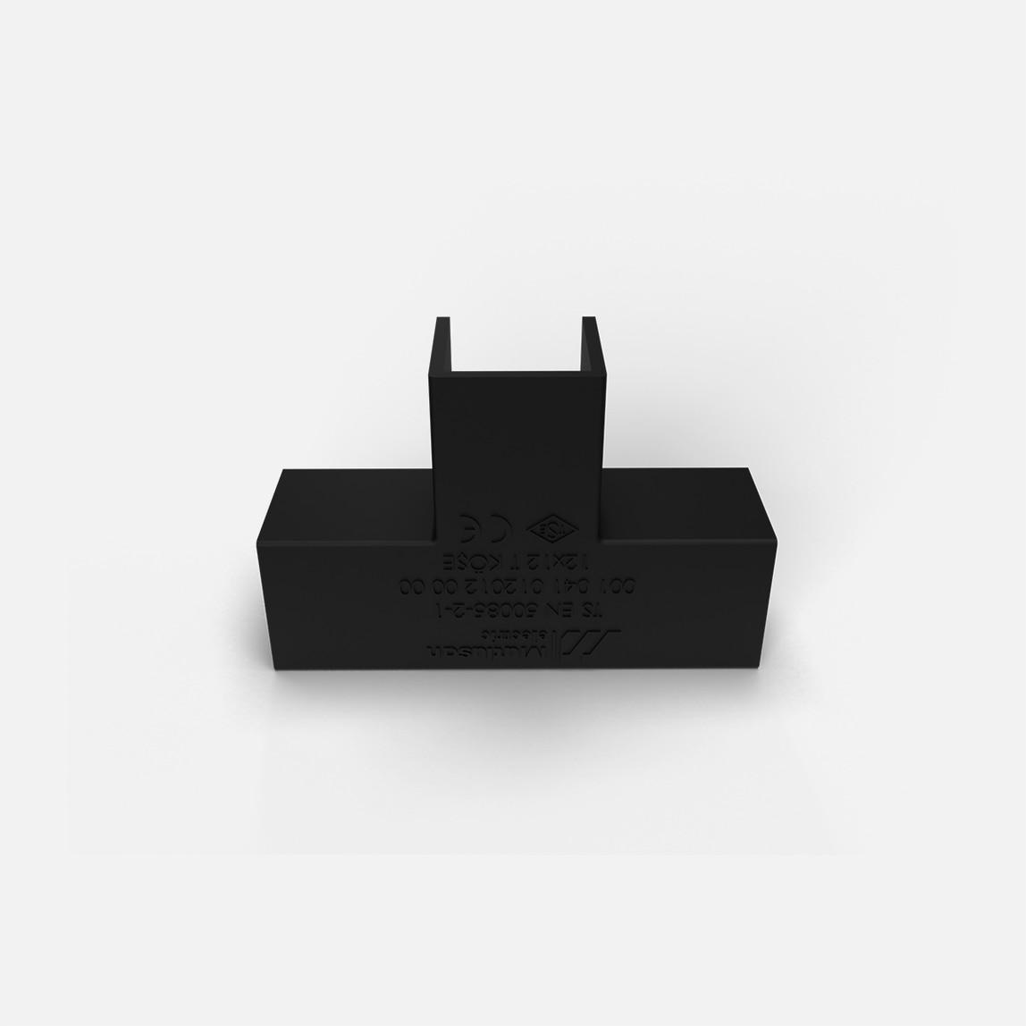 12X12 T-L Köşe Siyah