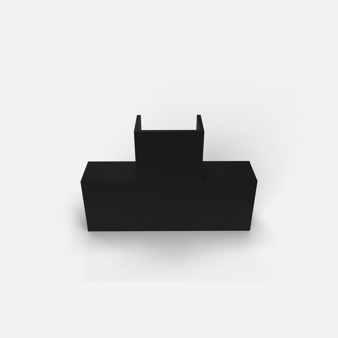 25X16 T-L Köşe Siyah