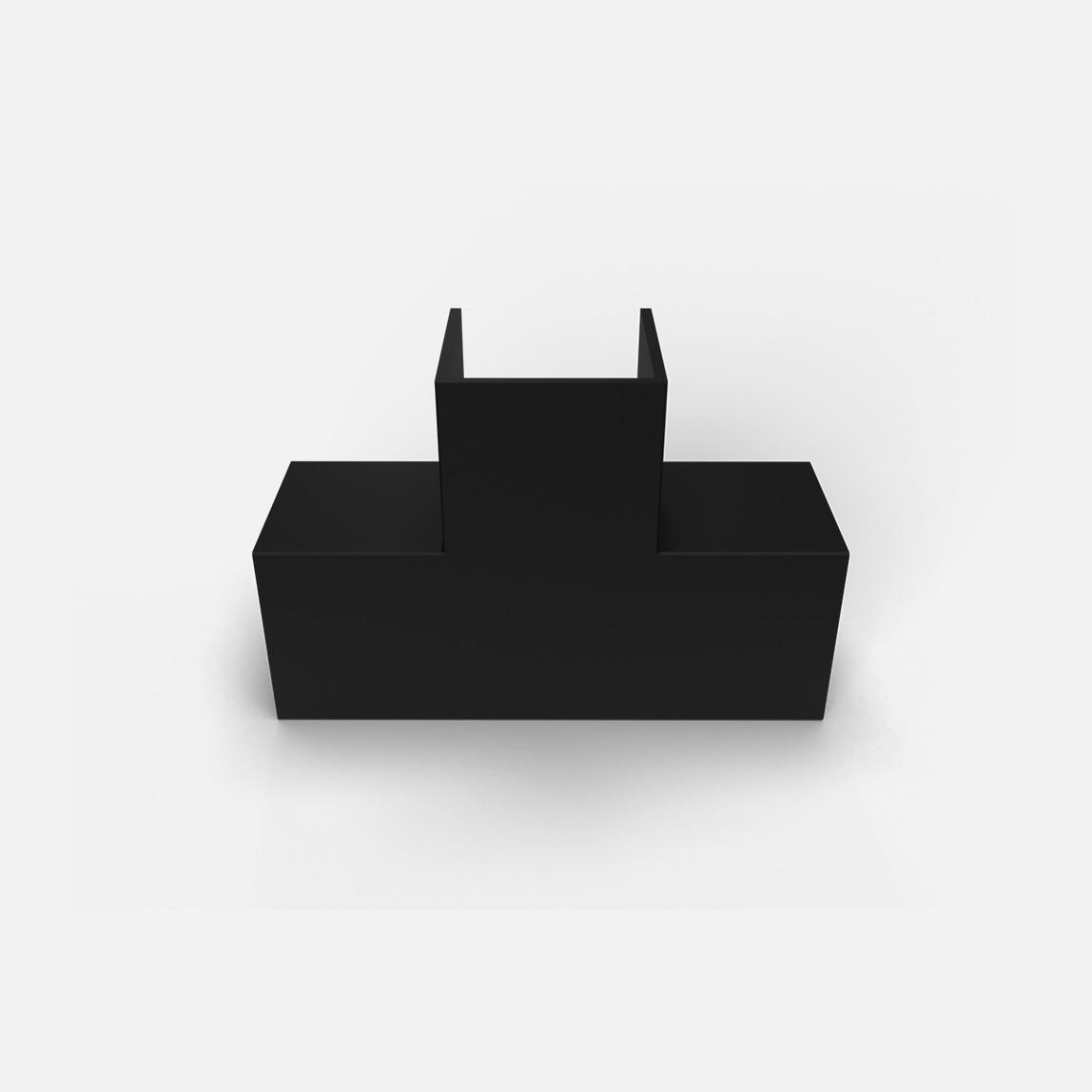 25X25 T-L Köşe Siyah