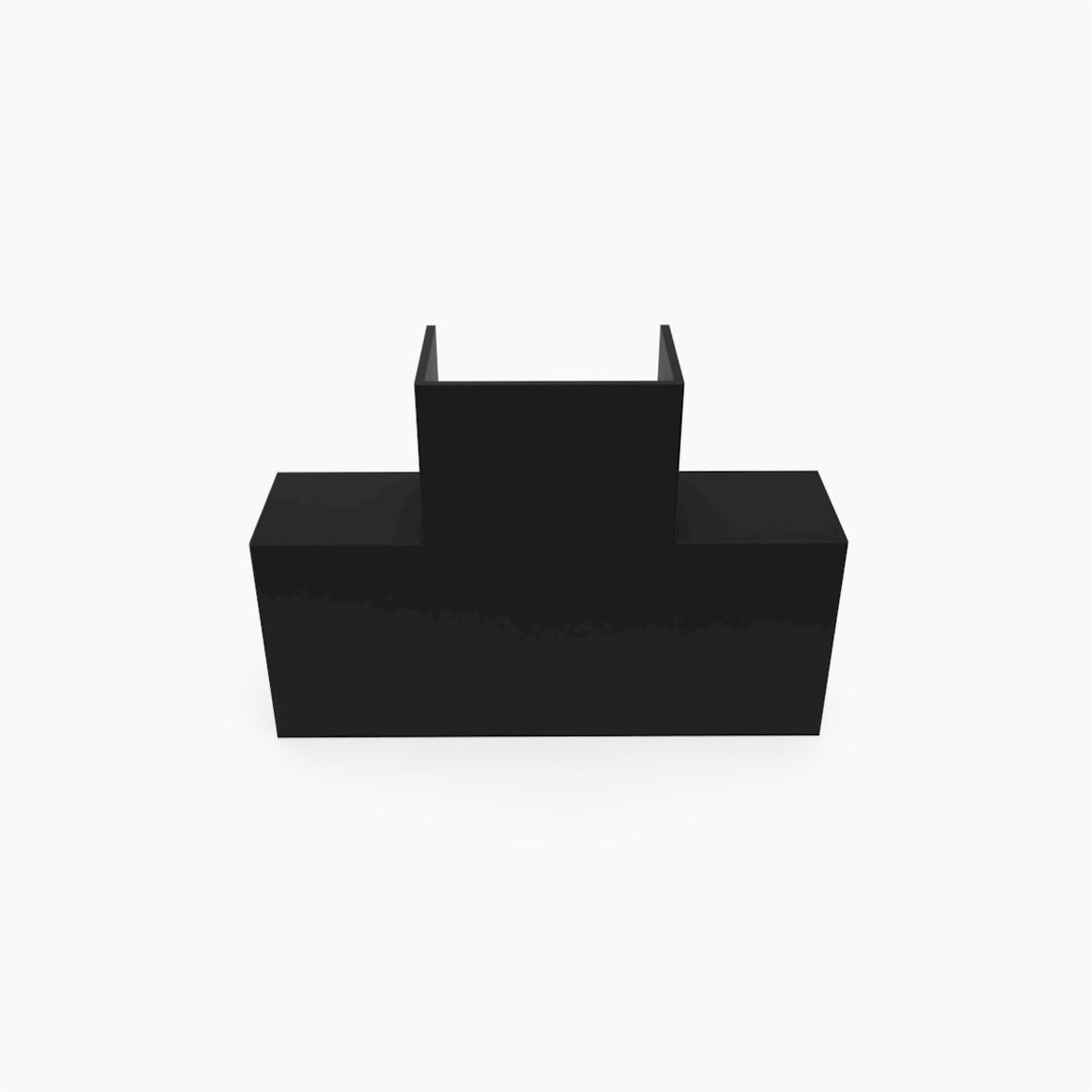 40X25 T-L Köşe Siyah