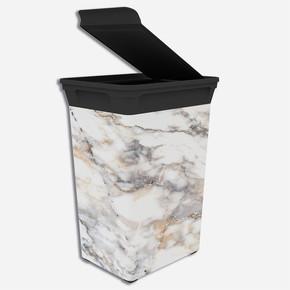 Q-Trash Çöp Kutusu Marble 40 lt
