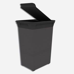 Q-Trash Çöp Kutusu Carbon 40 lt