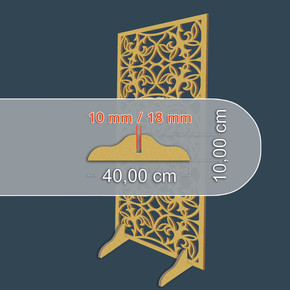 10mm Altın Yaldızlı Mdf Ayaklık