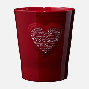 Lovely Hearts Kırmızı Saksı