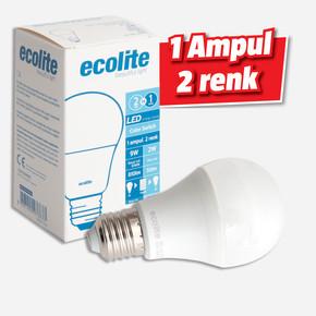 Ecolite Color Swıtch 9W+2W E27 6700K / Kırmızı