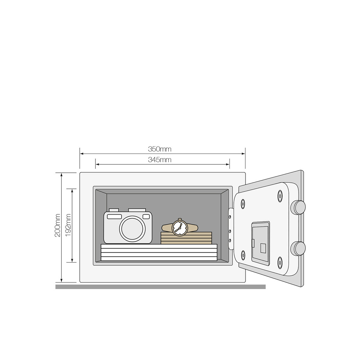 Yale Yüksek Güvenlikli Parmak İzli Motorlu Kasa - Compact Tipi