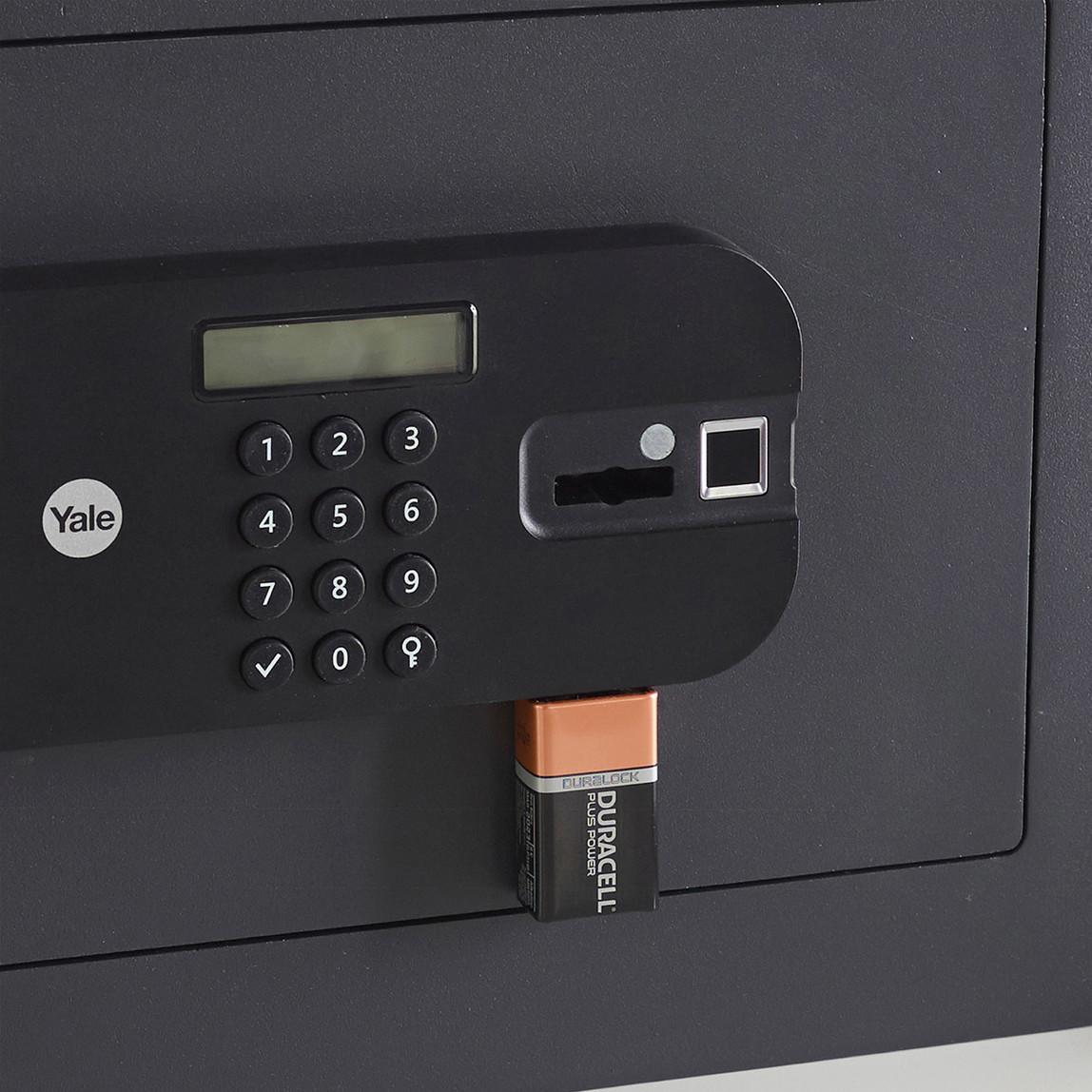 Yale Yüksek Güvenlikli Parmak İzli Motorlu Kasa - Laptop Tipi