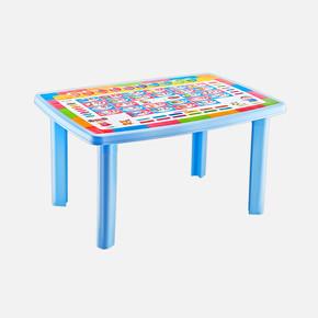 Alfabe Desenli Çocuk Masası (Mavi)