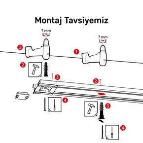Korniş Montaj Seti - Beton
