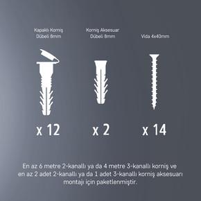 Slimflex Korniş Montaj Seti 4m