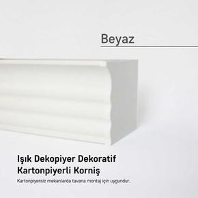 Panolu Pvc Perde Rayı Beyaz 200 cm.