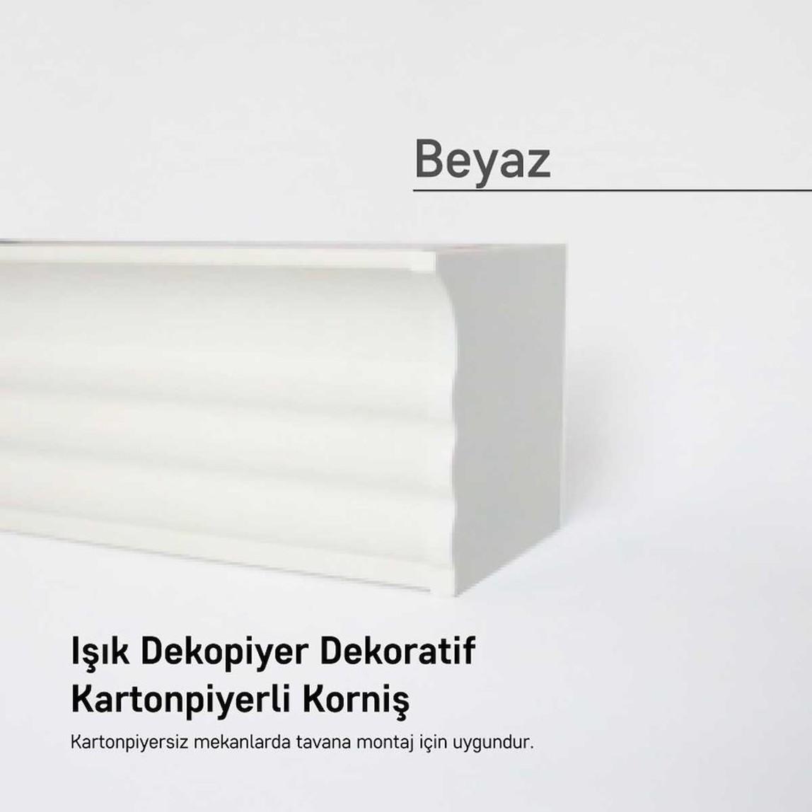 Panolu Pvc Perde Rayı Beyaz 300 cm