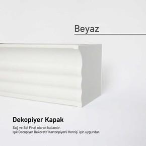 Dekopiyer Kapak Beyaz 2'li
