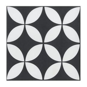 20x20 cm Sırlı Granit Stamp Siyah 1Kutu = 0,68m² Yurtbay