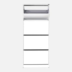 Flat Duo 4 Katlı Geniş Ayakkabılık Dolabı (Beyaz)