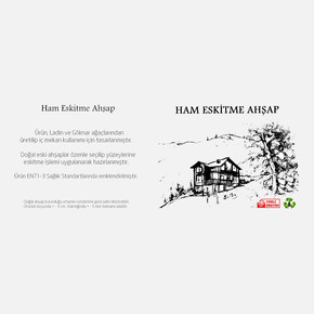 Eskitme Ahşap 8-10 cm 50x10x2,5 cm Ladin 51-Teak