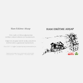 Eskitme Ahşap 8-10 cm 100x10x2,5 cm Ladin 51-Teak
