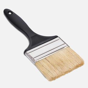 No:3 Arya Black Kestirme Fırça Plastik İnce Sap Beyaz Kıl