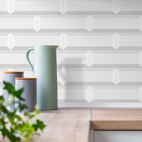 10X30 cm Metro Duvar Seramiği Beyaz