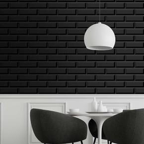 10X30 cm Metro Duvar Seramiği Siyah